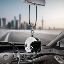 Creative Helmets Keychain Motorcycle Safety Car Auto Pendant Personality Keyring Hanging Decor Accessories