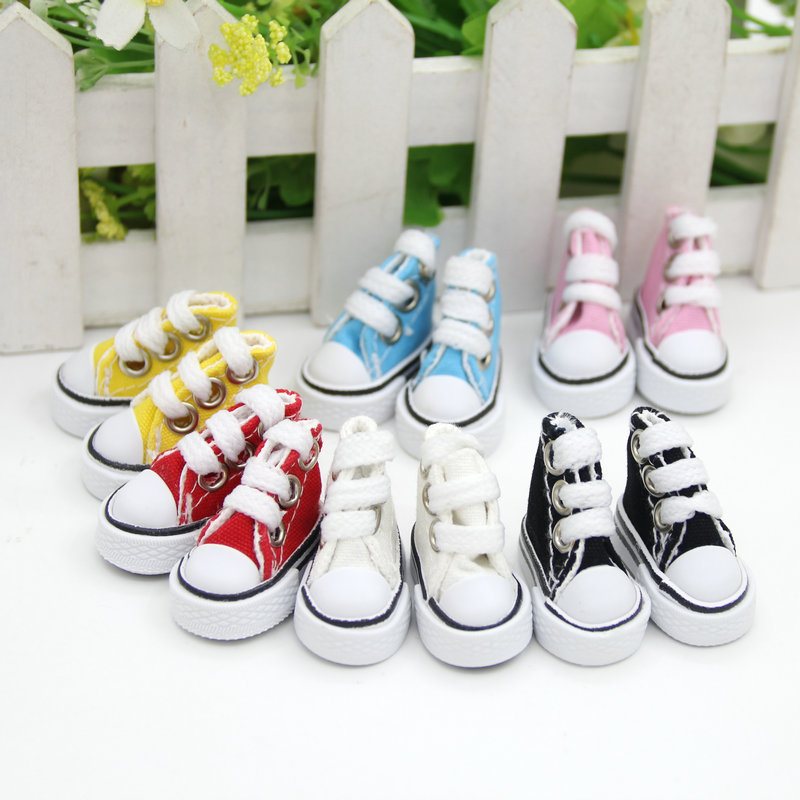 3.5cm Doll Shoes for barbie doll Blythe Licca Jb Doll Mini Shoes for Russian Doll 1/6 BJD Sneakers Shoes Boots image