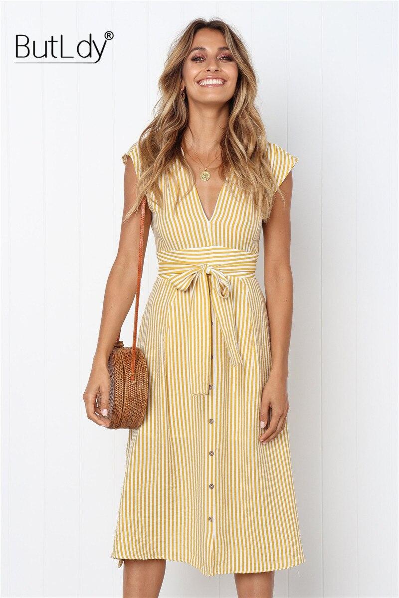 Vestido Playa Mujer 2019,Wave Mujer Raya Cuello Redondo Casual Talla Grande Largo Algodon Tirantes Verano Casual Elegante Boda Fiesta