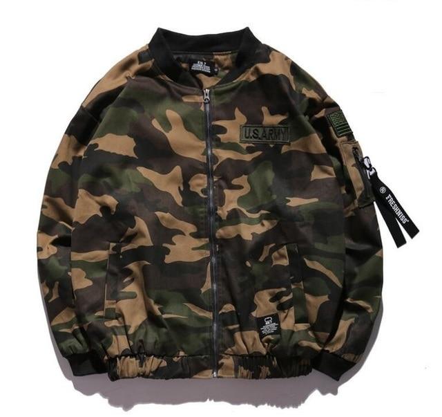 army camouflage bomber jacket men women windbreaker streetwear jaqueta masculina veste homme hip hop military camo jacket