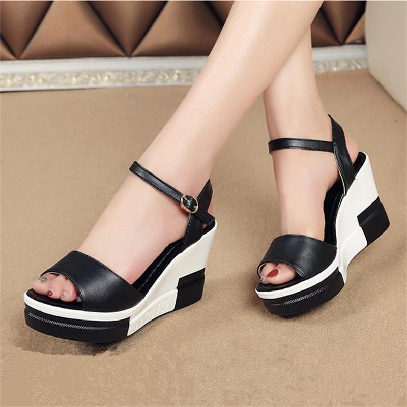 Women Sandals 2017 Summer Shoes Woman Flip Flops Wedges Height Increasing Fashion Platform Female Slides Ladies Shoes Peep Toe phyanic 2017 gladiator sandals gold silver shoes woman summer platform wedges glitters creepers casual women shoes phy3323