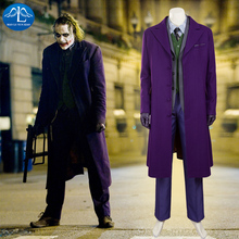 MANLUYUNXIAO Batman The Dark Knight Joker Costume Woolen Suit Halloween Cosplay For Men High Quality