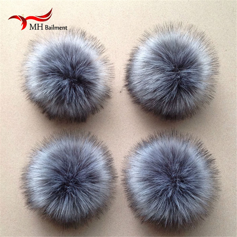Real Raccoon Fur Pom Poms Luxurious Fur Balls For Knitted Cap Winter Beanies Real Fur Accessories F#110