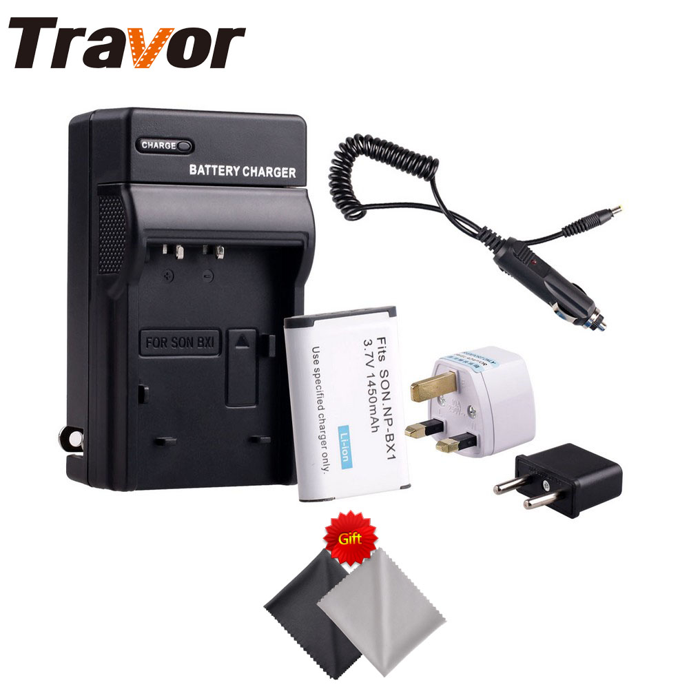 Travor NP-BX1 <font><b>Battery</b></font> and USB Charger for Sony NP-BX1/<font><b>M8</b></font> and Cyber-shot DSC-HX80, RX1, RX1R, RX100, RX1RII HX50V Camera