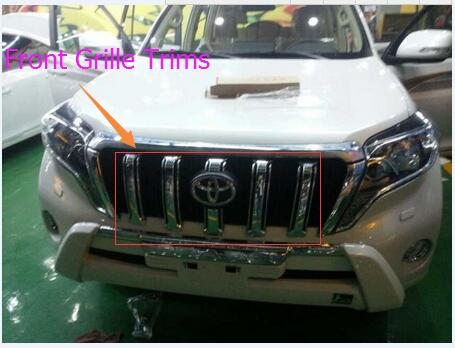 Front Grille Trims Racing Grille Cover ABS Chrome For Toyota Land Cruiser Prado 150 Ycsunz Car Accessories 6pc/sets Car styling abs chrome front bottom bumper cover trims grille strips car engine protection for toyota corolla 2017 2018 facelift accessories