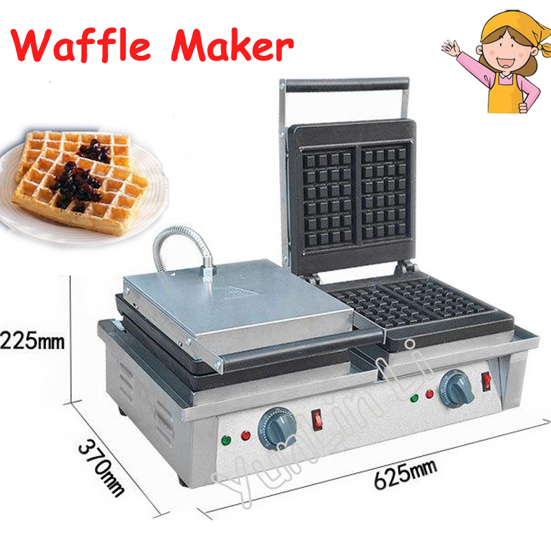 Double Headed Waffle Maker Square Muffin Machine Electric Baking Machine Stainless Steel Waffle Furnace Stove FY 2202