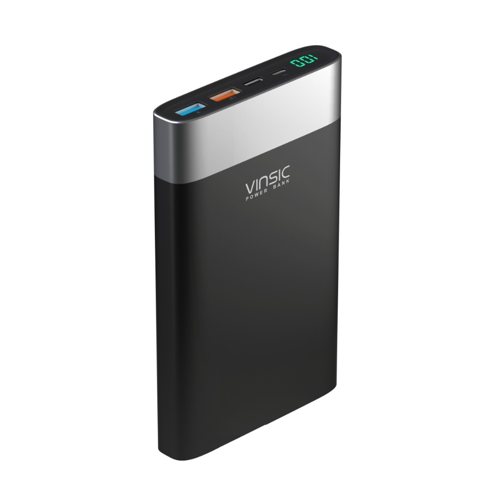 Vinsic Terminator P3 20000mah Power Bank Qc30 Quick Charge 24a Mouse X3 Dual Output With Type C Port For Samsung Iphone 8 Xiaomi In From Cellphones