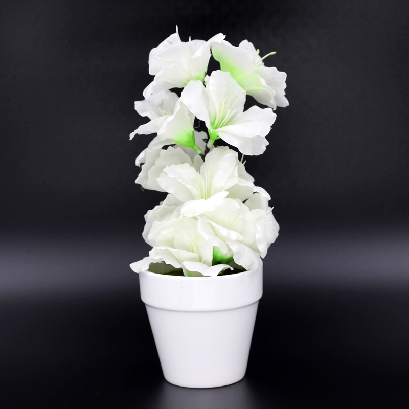Wonderful Simulation Plastic Flowers Crafts Ceramic Plate Indoor Decoration Bonsai  Festival Home Decoration Flowers In Artificial U0026 Dried Flowers From Home U0026  Garden ...