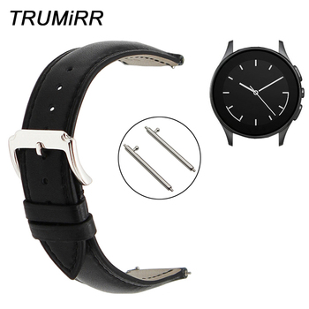 22mm Quick Release Watchband for Vector Luna Meridian Smart Watch Band 1st Layer Genuine Leather Strap Full Grain Wrist Bracelet