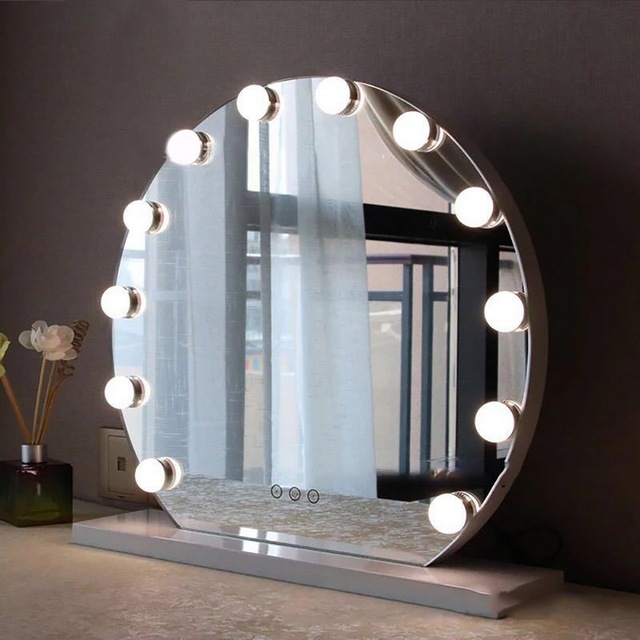 10pcsset Hollywood Led Vanity Lights Mirror Wall Lamp Makeup Light