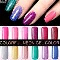 Belen Colorful Neon Gel Polish Bling Gel Lak Vernis Semi Permanent Soak Off UV Color Gel Nail Polish Nail Top Base Lacquers