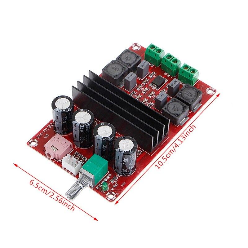 2x100W 2 Channel Digital Amplifier Audio Board Dual Channel 12 to 24V Audio  Amplifier board DIY Module for Arduino TPA3116D2