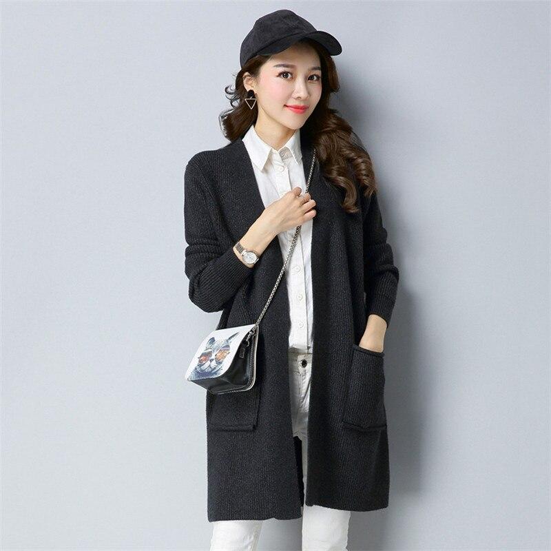 Printemps Brown 2018 Mode Femmes Gray dark Tricoté Femme Cardigan Chandail Nouveau Coréenne Tops 584 armygreen Automne red Hiver Manteaux EH29IWDY