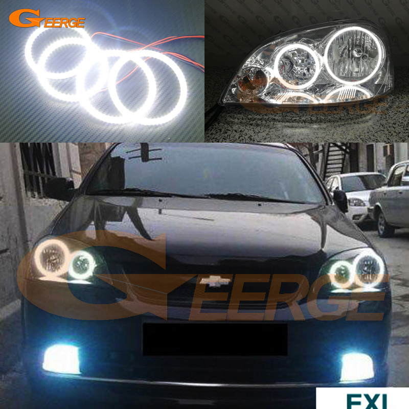 For Chevrolet Lacetti Optra Nubira 2002-2008 Excellent angel eyes Ultra bright illumination smd led Angel Eyes Halo Ring kit неоновые кольца angel eyes duntuo smd 60 2