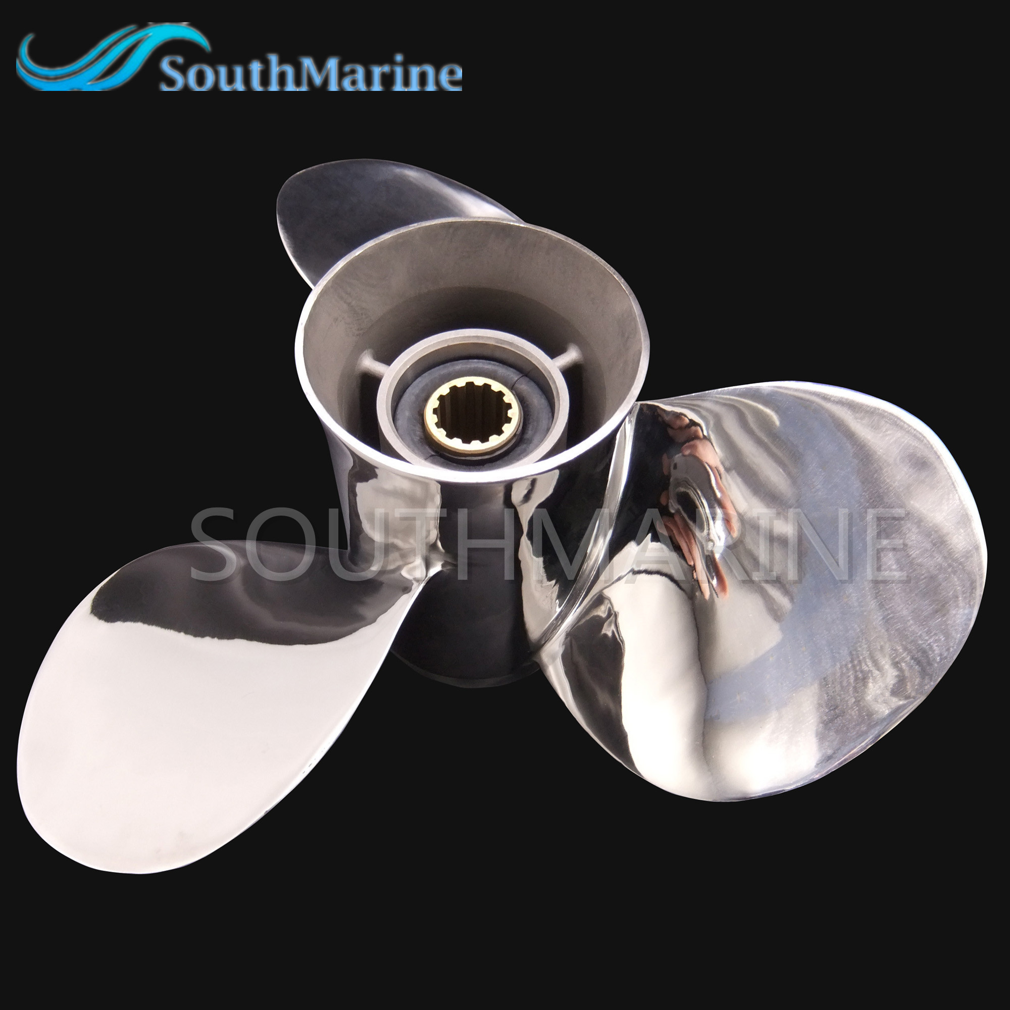 Stainless Steel Propeller 11 3/8x12-G For Yamaha 40HP 50HP Outboard Motor Boat Engine 11 3/8 x 12 -G 13 splines,Free Shipping