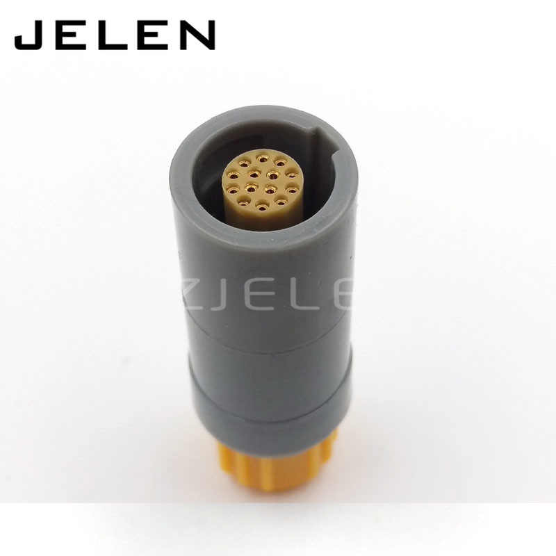 plastic 14 pin plug, PRG.M.14.PLLC39A ,medical connector 14 pins plug(female), push pull power cable connections 14 pin replacement lemos connector circular metal push pull cable plug 3 pins m12 size brass body solder contacts fgg 1b 303