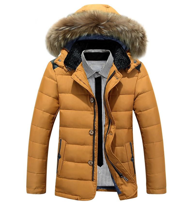 Winter New Style Warm Men s Jacket Parka Thick Warm Fur Collar Long Cotton Jacket Men