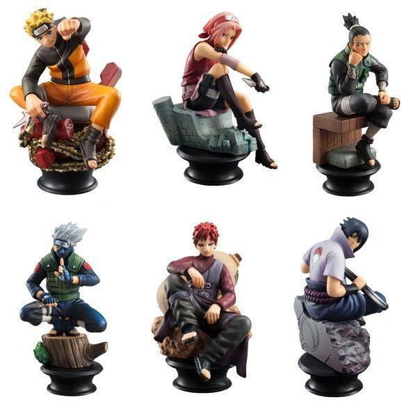Naruto Anime Action PVC Figures Kids Boys Gifts Doll Toy 6Pc Home Ornaments