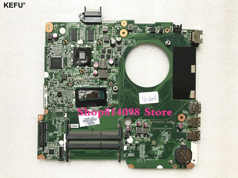 KEFU для hp PAVILION 15 N Материнская плата ноутбука 732089 501 DA0U83MB6E0 i3 4005U DDR3