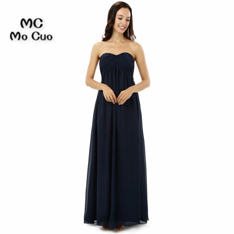 2018 Dark Blue Bridesmaid Dress Long Maid Of Honor Wedding Party
