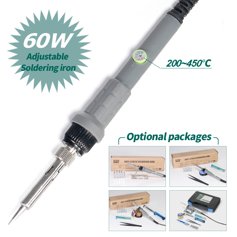 YIHUA 947 II Adjustable Soldering Iron With 5 Colors Optional Portable Screwdriver Solder Wire Tips Mini