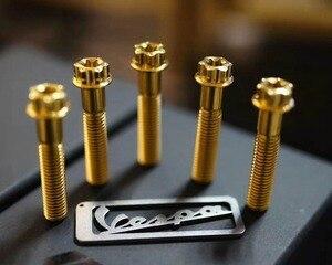 Image 4 - Accessoires moto vis de moyeu en alliage de titane acrew m8 * 40 pour piaggio vespa gts 300 Primavera 150 Sprint 150 vis de fixation