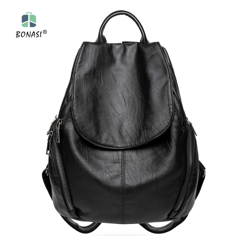 ФОТО Hot sale! Free shipping 2017 new fashion PU leather waterproof women backpack buy and get free gift now