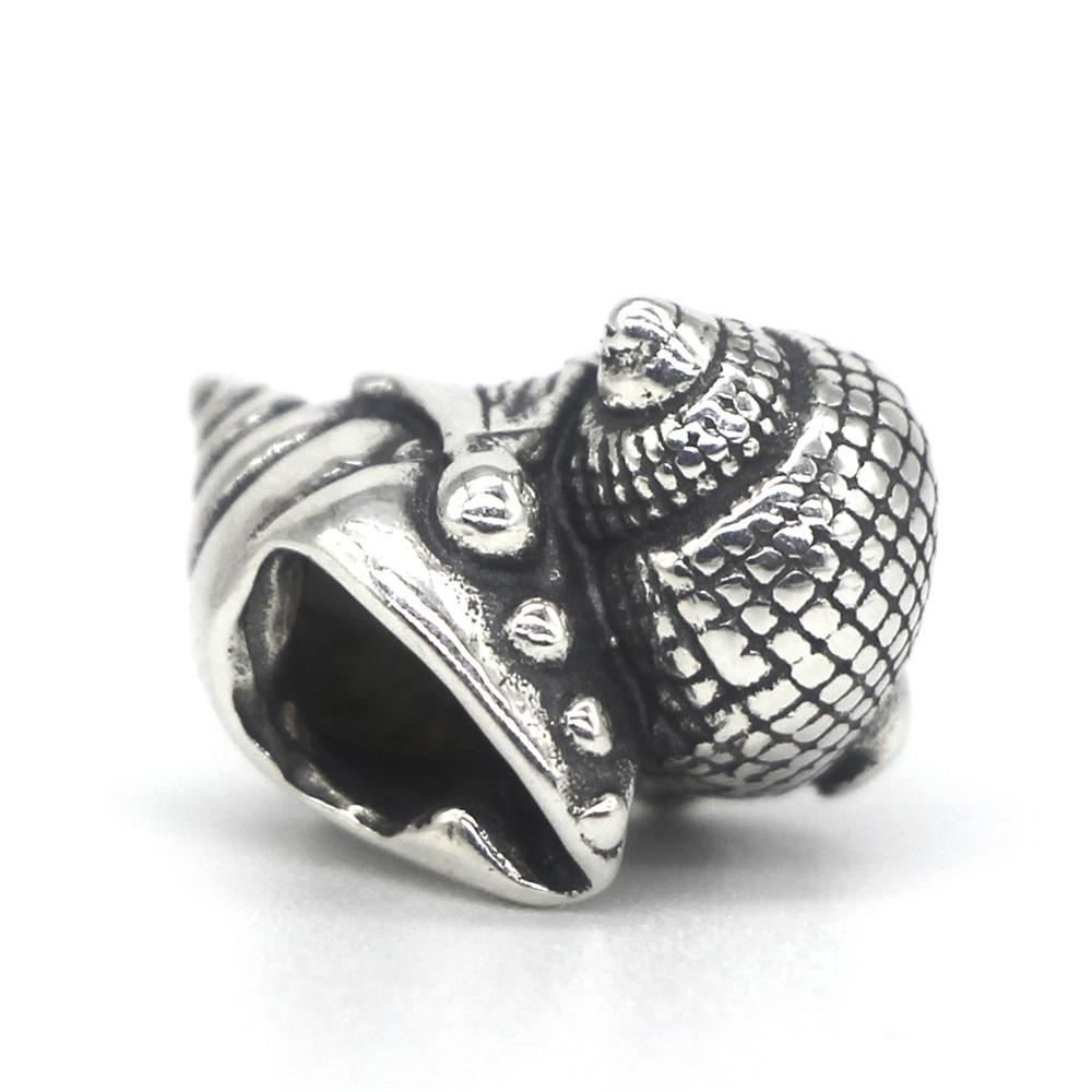 Image 4 - Mistletoe Jewelry Genuine 925 Sterling Silver Love Conch Charm Bead Fit European Troll 3.0mm Bracelet-in Beads from Jewelry & Accessories