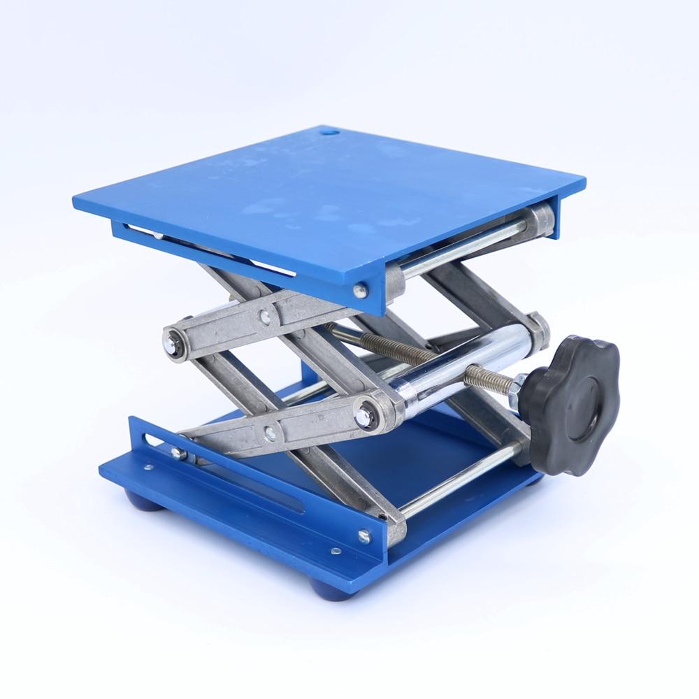 """6 """"aluminijska laboratorijska oprema Platforma za podizanje platformi stalak nosač laboratorija škare 150x150x250mm"""