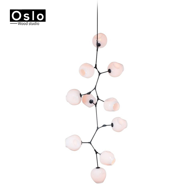 2019 Fashion Nordic E27 Pendant Postmodern Style Individuality Simple Creative Decorative Branches Molecular Light Decorative Lightinglamp An Enriches And Nutrient For The Liver And Kidney