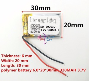 Image 2 - (شحن مجاني) بطارية ليثيوم بوليمر 602030 320mAh 3.7 فولت نقطة قراءة قلم مسجل بالجملة CE FCC بنفايات MSDS شهادة