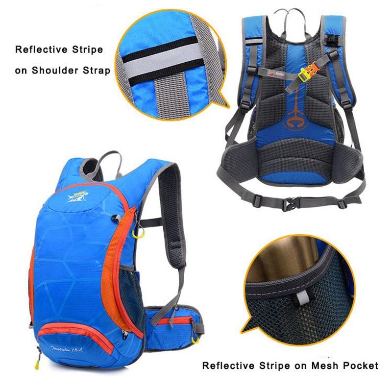 Camping Cycling Rucksack Backpack Hydration Pack Helmet Bladder Bag Blue