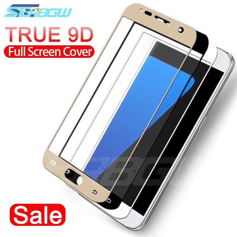 9D Full Cover Protective Glass For Samsung Galaxy S7 J3 J5 J7 2016 2017 J2 J4 J6 J8 2018 Tempered Screen Protector Glass Film