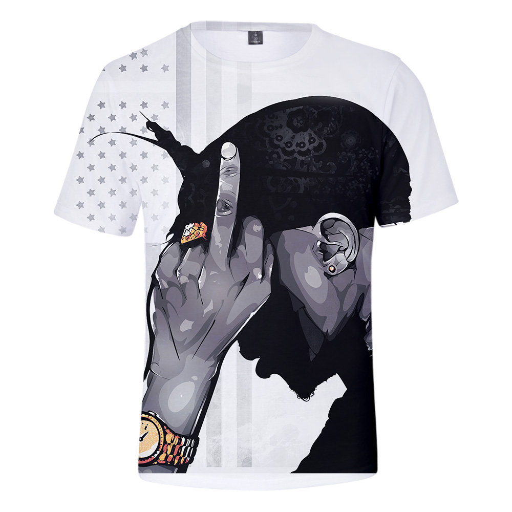 2019 New Rapper 2pac 3D print t-shirts Men/Women summer streetwear Casual t shirts Plus Size Short Sleeve software Clothes 4XL image