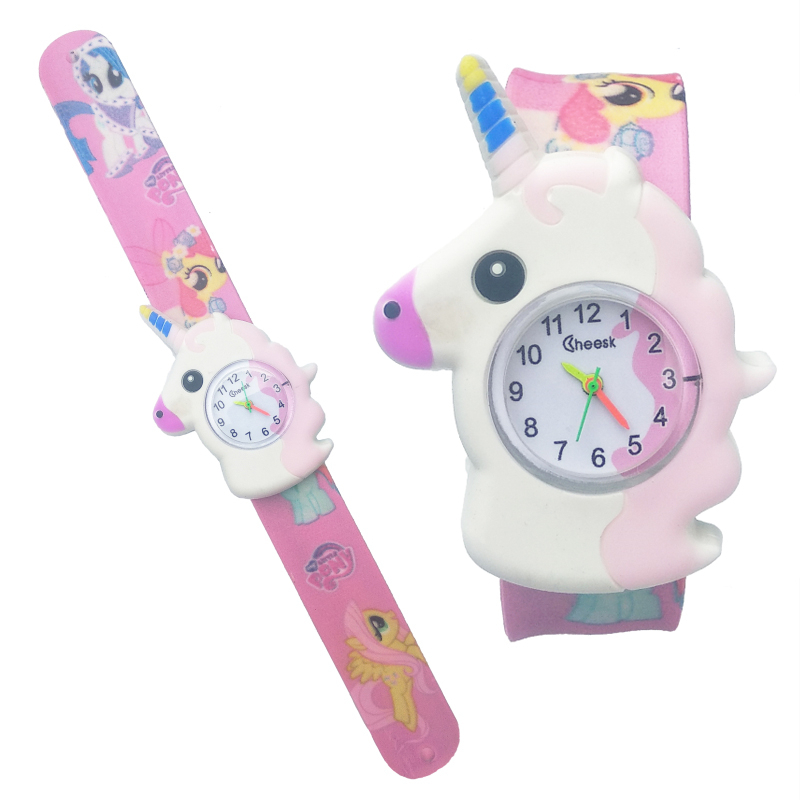 New Unicorn Watch Children Cartoon Pony Watch Kids Pat The Wrist Band Analog Child Quartz Watches For Girls Boys Baby Gift Clock