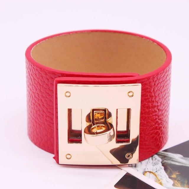 Punk Wide Leather Bracelets...