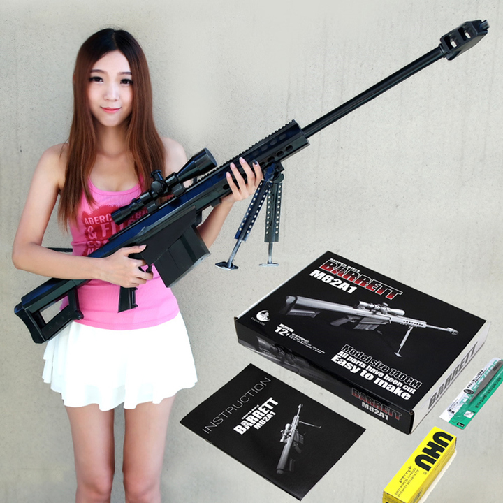 Free shipping 1:1 Scale M82A1 12.7 mm Sniper Rifle 3D Paper Model Cosplay Kits Kid Adults' Gun Weapons Paper Models Gun Toys