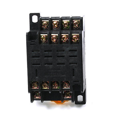 DTF14A 8-Pin 35mm DIN Rail Mounted Power Relay Holder Socket Base for HH64P  Free Shipping 3 pcs din rail mounting plastic relay socket base holder for 8 pin relay pyf08a