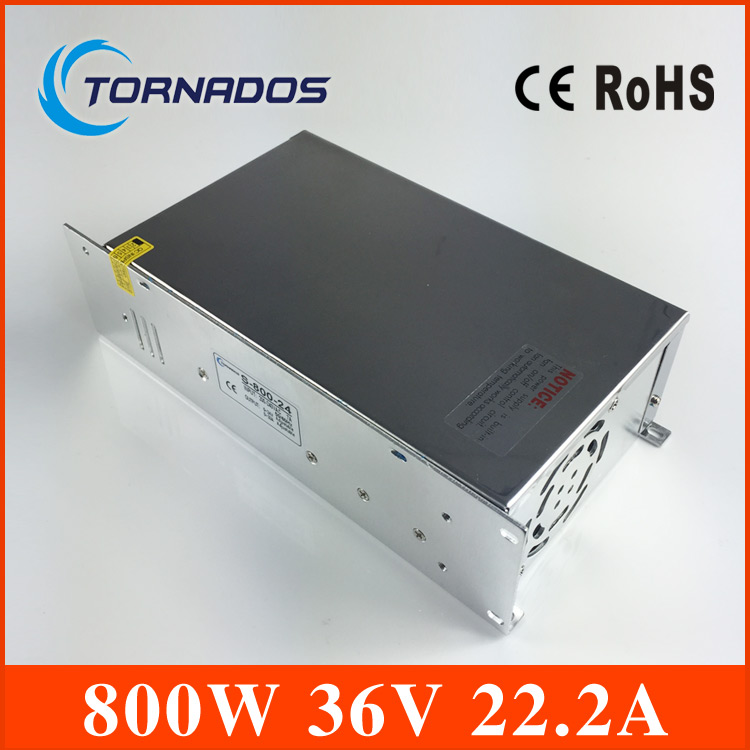 S-800-36 Single Output 800W 36V DC Switching power supply Driver Transformer 220V AC to DC36V SMPS For CNC Machine DIY LED CCTV s 100 12 100w 12v 8 5a single output ac dc switching power supply for led strip ac110v 220v transformer to dc led driver smps