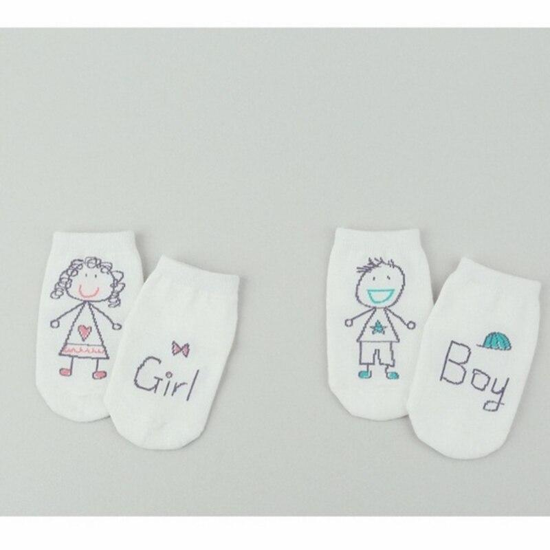 2017 New Spring Baby Socks Newborn Cotton Boys Girls Sock Cute Toddler Asymmetry Anti-slip Baby Socks