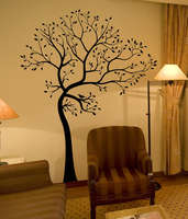 L54 BIG TREE BROWN GREEN WALL DECAL Decor Art Sticker Mural wall stickers home decor removable vinyl waterproof poster
