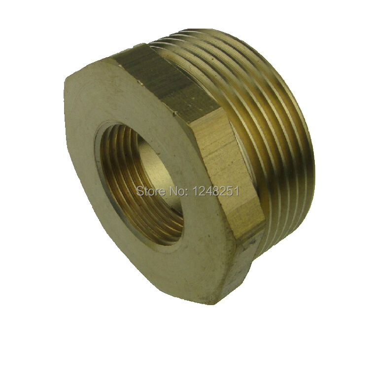 Quot male female inch bsp bushing length mm brass