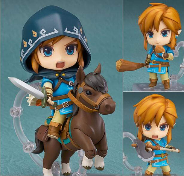 The Legend of Zelda Action Figure Link Nendoroid Breath of the Wild Ver DX Edition Deluxe PVC 100mm Model Toys Zelda Nendoroid футболка wearcraft premium printio los angeles kings nhl usa