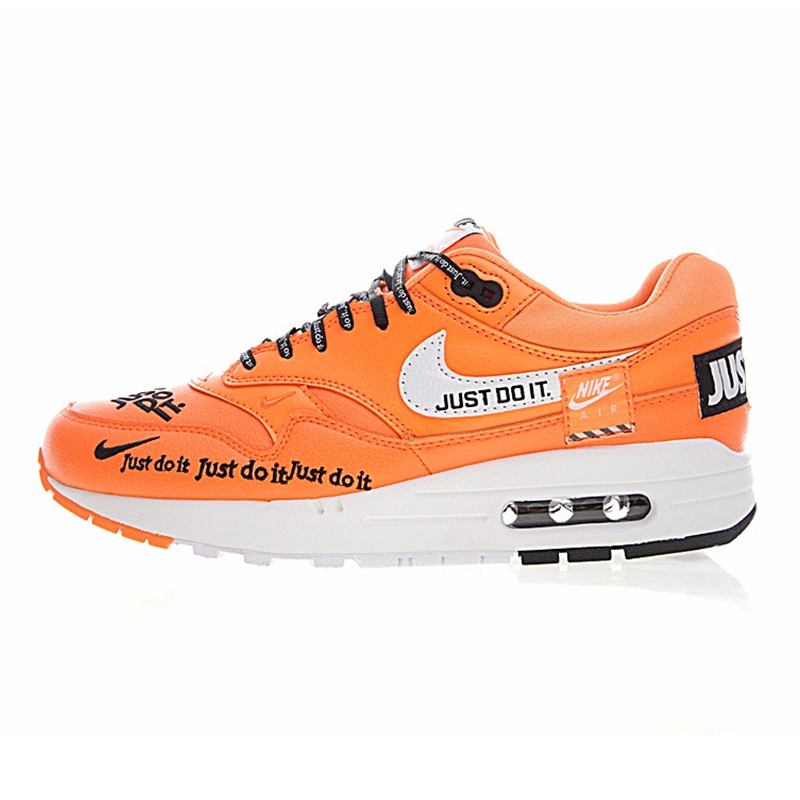 f277e749bebe7 ... low cost just do it nike air max 1 mens running shoes orange shock  absorbing non