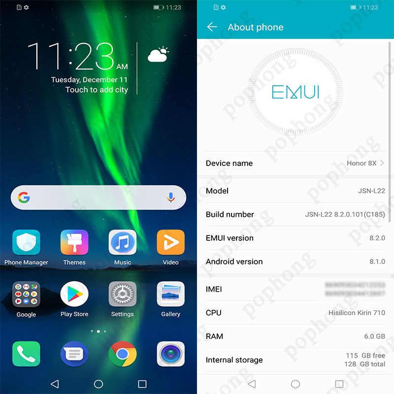 Global Firmware Huawei Honor 8X honor8X 6 5 inch OTA Update LTE Smartphone  Android 8 1 Octa Core 1 5GHz 6 5 Inch 3750mAh