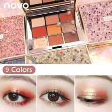 NOVO Eyeshadow Palette 9 colors Matte Eye Shadow Glitter Nude 9 colors Makeup Co
