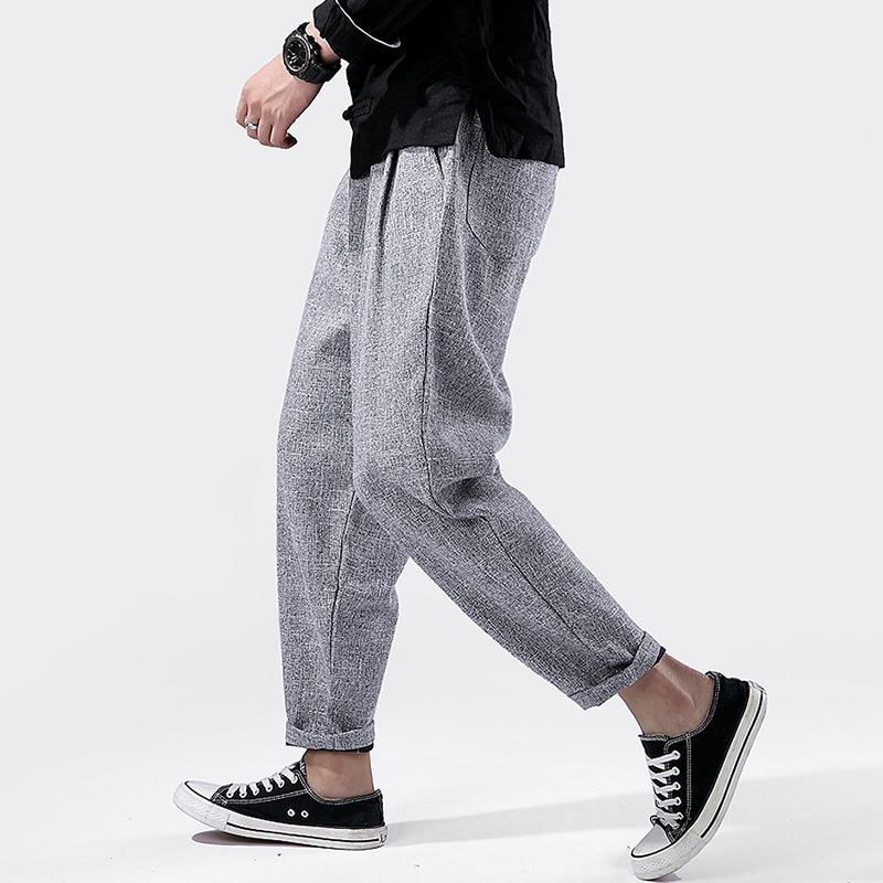 Harem Pants Trousers Male Fitness Summer Casual Brand Harajuku Soft Chinese-Traditional