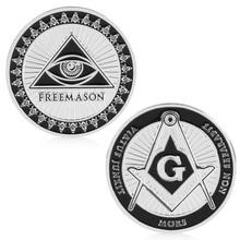 Masonic Freemasonry Памятная Монета маркер искусство коллекция физический