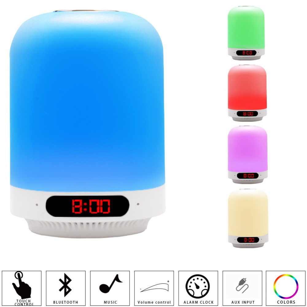 PANYUE Mini Speaker Bass Sound Portable Wireless Smart Touch LED Table Lamp With TF Card Radio Fm 2018 speaker