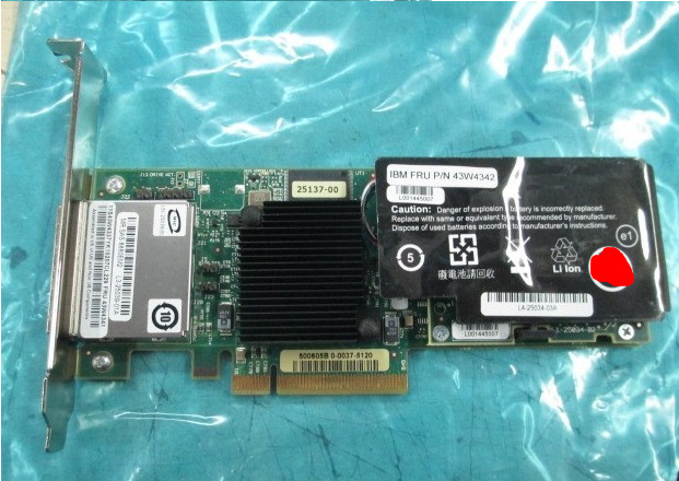 ServeRAID SAS/SATA Raid Controller Card PCI-E 43W4341 8880EM2 375 3536 sas raid with battery array card pci e sas card 100% test good quality